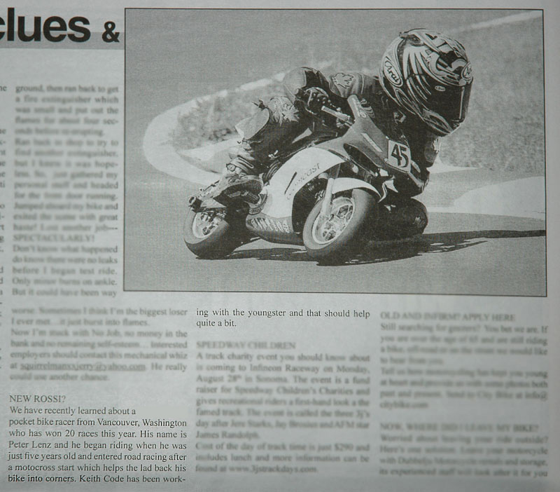 2006 Sportbike Issue, Peter Lenz