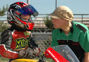 Peter Lenz and Superbike School riding coach, Misti Hurst